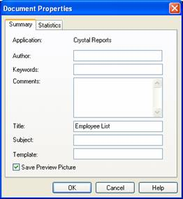 Getting to know Crystal Reports - Copyright 2006 Brian Bischof